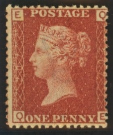 1858 1d Red SG 43 Plate 207