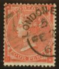 1862 4d Bright red SG 79