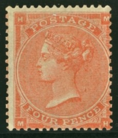 1862 4d Pale red SG 80