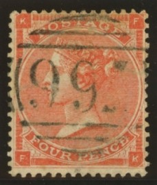 1862 4d Bright red SG 81