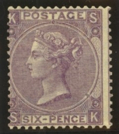 1865 6d Lilac SG 97 Plate 5