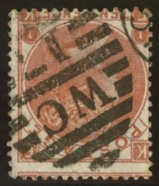 1867 10d Red brown variety inverted watermark SG 112i