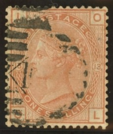 1873 1/- Orange brown SG 151