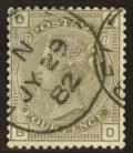 1880 4d Grey brown SG 160 Plate 17