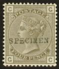 1880 4d Grey brown SG 160 Plate 18 overprinted specimen