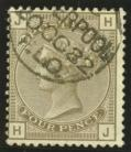 1880 4d Grey brown SG 160 Plate 18