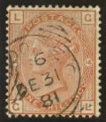 1880 1/- Orange brown SG 163 Plate 14