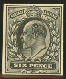 1902 6d Plate proof in black