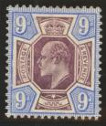 1902 9d Slate purple + ultramarine SG 250a