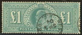1902 £1 Dull blue green SG 266