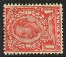 1912 1d Scarlet with variety watermark sideways SG 350c