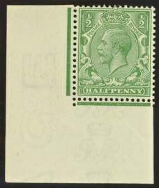 1912 ½d Very pale green SG Spec N14 (4)