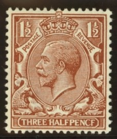 1912 1½d Red brown variety PENCF error SG 362a