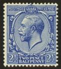 1912 2½d Deep bright blue SG Spec N21 (5)