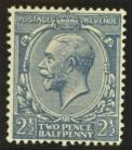 1912 2½d Dull prussian blue SG Spec N21 (17)