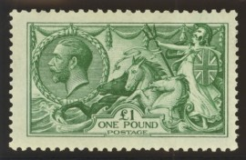 1913 £1 Dull blue green SG 404