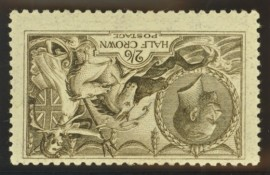 1915 2/6 Sepia (seal brown) SG 408i