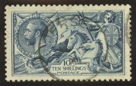 1918 10/- Dull grey blue SG 417