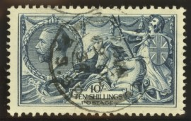 1918 10/- Steel blue SG 417 SG Spec N 71 (3)