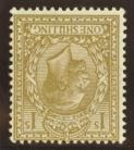 1924 1/- Bistre variety inverted watermark SG 429i