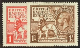 1925 1d  + 1½d Wembley set SG 432 - 35