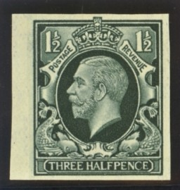 1934 1½d Colour trial in green