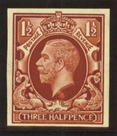 1934 1½d Colour trial in brown