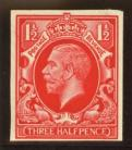 1934 1½d Colour trial in red