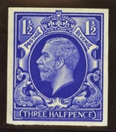1934 1½d Colour trial in blue