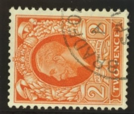 1934 2d Orange watermark sideways SG 442b